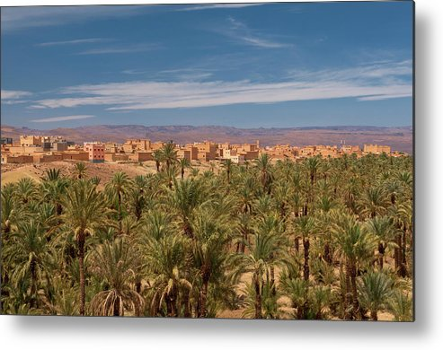 Non-urban Scene Metal Print featuring the photograph The Palmery Of Nkob In The Draa Valley by Dave Stamboulis Travel Photography