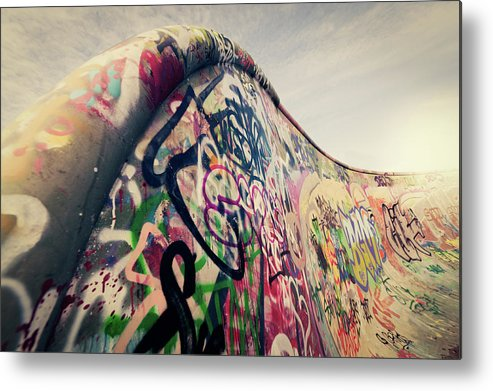 Orange Color Metal Print featuring the photograph The Ramp by Ppampicture
