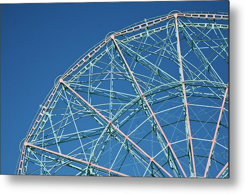 Built Structure Metal Print featuring the photograph The Top Of A Ferris Wheel, Low Angle by Frederick Bass