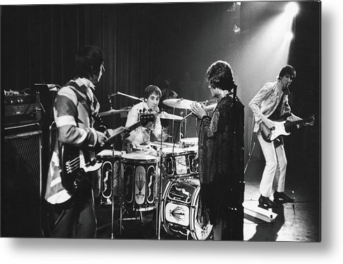 Rock Music Metal Print featuring the photograph The Who At The Fillmore East by Fred W. McDarrah