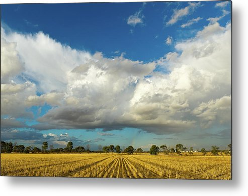 Scenics Metal Print featuring the photograph Thunderstorm And Rainbow by Cuhrig