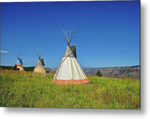 Tranquility Metal Print featuring the photograph Tipi by Philip Kuntz, Nw Visions