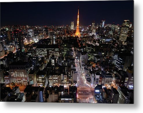 Tokyo Tower Metal Print featuring the photograph Tokyo At Night by Sugimoto Yasuaki