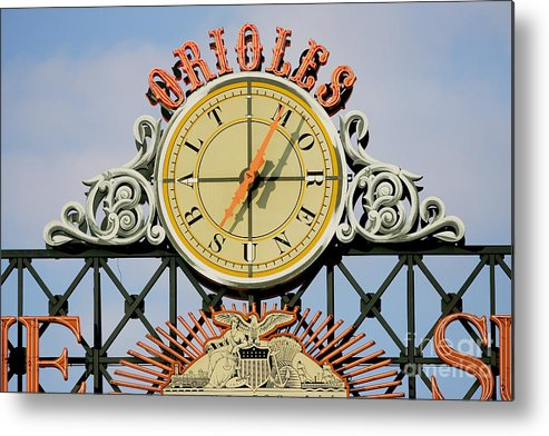 American League Baseball Metal Print featuring the photograph Toronto Blue Jays V Baltimore Orioles by Jamie Squire