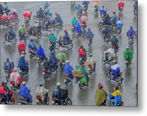 Ho Chi Minh City Metal Print featuring the photograph Traffic In Ho Chi Minh City by Rwp Uk