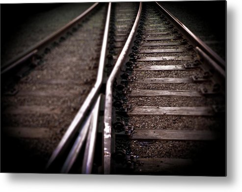 Freight Transportation Metal Print featuring the photograph Train Line Crossing by Mikulas1