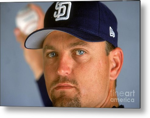 Peoria Sports Complex Metal Print featuring the photograph Trevor Hoffman 51 by Brian Bahr