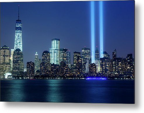 Tranquility Metal Print featuring the photograph Tribute In Lights by Nathan Blaney