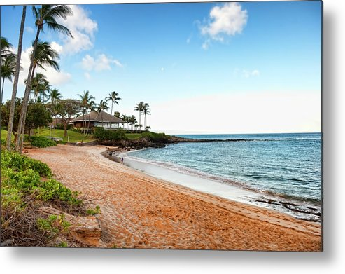 Water's Edge Metal Print featuring the photograph Tropical Beach Paradise by Rontech2000