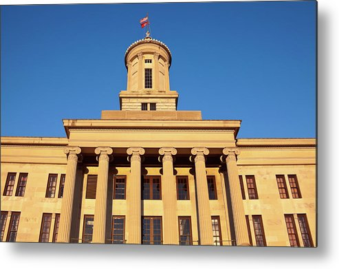 Clear Sky Metal Print featuring the photograph Usa, Tennessee, Nashville, State by Henryk Sadura