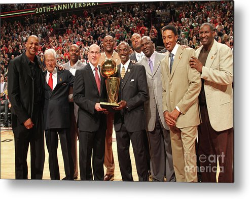 Event Metal Print featuring the photograph Utah Jazz V Chicago Bulls by Ray Amati