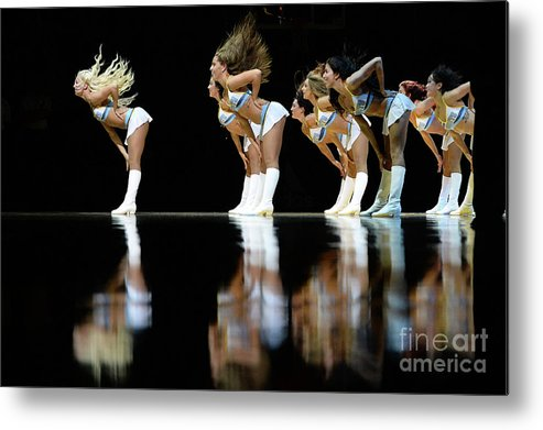 Nba Pro Basketball Metal Print featuring the photograph Utah Jazz V Denver Nuggets by Bart Young