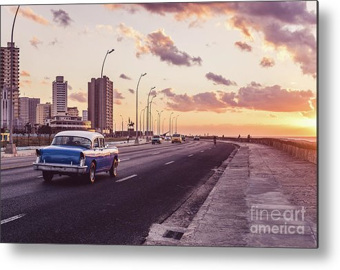 Latin America Metal Print featuring the photograph Vehicles On Road Against Sky by Sven Hartmann / Eyeem