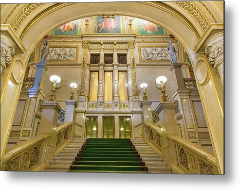 History Metal Print featuring the photograph Vienna Opera House, The Main Hall by Sylvain Sonnet