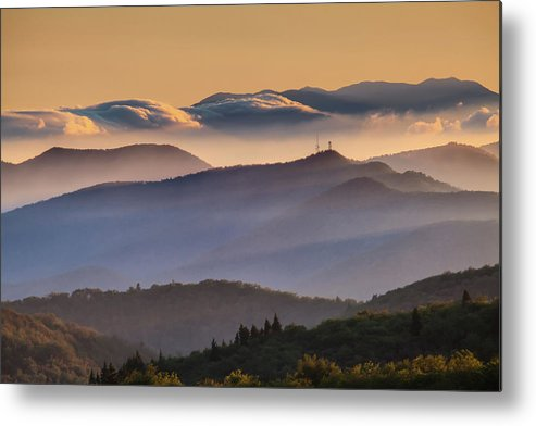 North Carolina Metal Print featuring the photograph View Of Frying Pan Mountain by Fine Art Images By Rob Travis Photography
