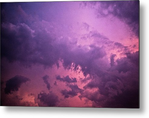 Scenics Metal Print featuring the photograph Violet Sky by Richard Newton / Daddynewt