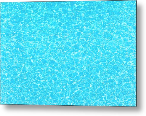 Cool Attitude Metal Print featuring the photograph Water Wave Pattern Of Swimming Pool by Anddraw