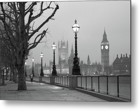 Scenics Metal Print featuring the photograph Westminster At Dawn, London by Gp232