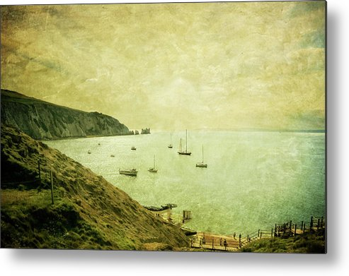 Tranquility Metal Print featuring the photograph When Turner Came To Alum Bay by S0ulsurfing - Jason Swain