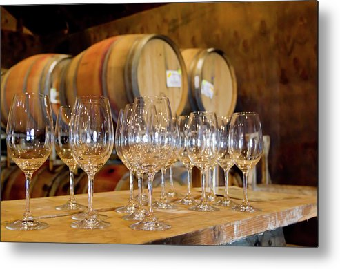 Alcohol Metal Print featuring the photograph Wine Tasting Room by Creativeye99