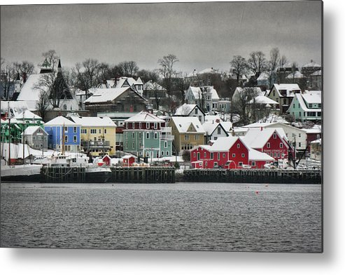 Snow Metal Print featuring the photograph Winter In Lunenburg by Amanda White