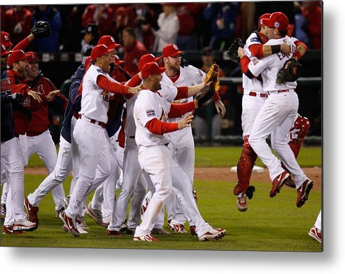 St. Louis Cardinals Metal Print featuring the photograph World Series Game 5 Detroit Tigers V by Dilip Vishwanat