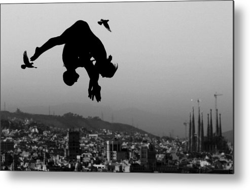Piscina Municipal De Montjuic Metal Print featuring the photograph World Swimming Championships Barcelona by Adam Pretty