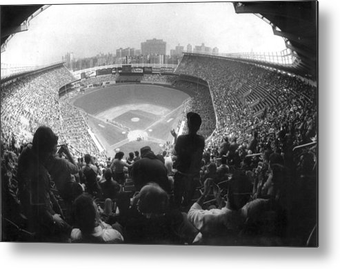 1980-1989 Metal Print featuring the photograph Yankee Stadium Is Packed For The New Y by New York Daily News Archive