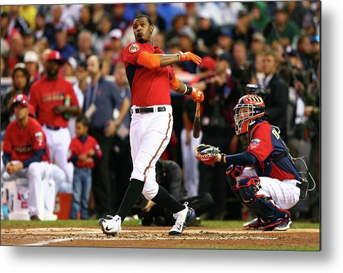 American League Baseball Metal Print featuring the photograph Adam Jones by Elsa