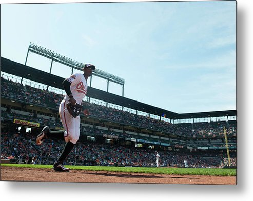 American League Baseball Metal Print featuring the photograph Adam Jones by Rob Tringali