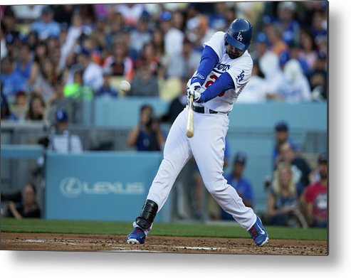 California Metal Print featuring the photograph Adrian Gonzalez by Paul Spinelli
