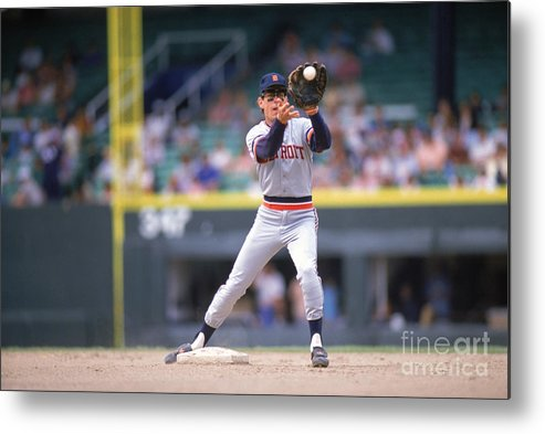 American League Baseball Metal Print featuring the photograph Alan Trammell by Ron Vesely