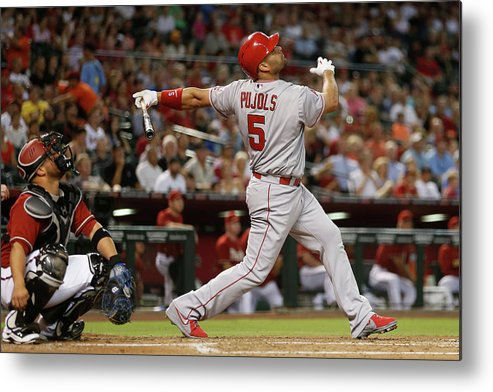People Metal Print featuring the photograph Albert Pujols by Christian Petersen