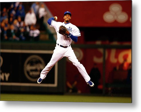 People Metal Print featuring the photograph Alcides Escobar by Jamie Squire