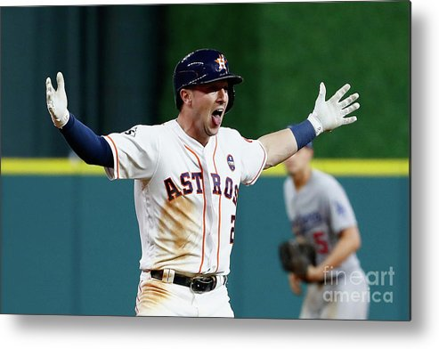 Alex Bregman Metal Print featuring the photograph Alex Bregman by Jamie Squire