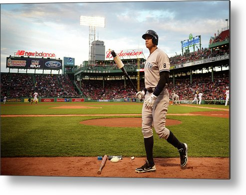 People Metal Print featuring the photograph Alex Rodriguez by Adam Glanzman