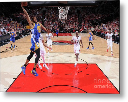 Playoffs Metal Print featuring the photograph Andre Iguodala by Sam Forencich