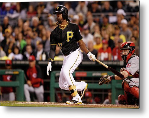 Pnc Park Metal Print featuring the photograph Andrew Mccutchen by David Maxwell