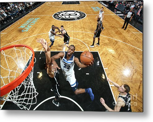 Nba Pro Basketball Metal Print featuring the photograph Andrew Wiggins by Nathaniel S. Butler