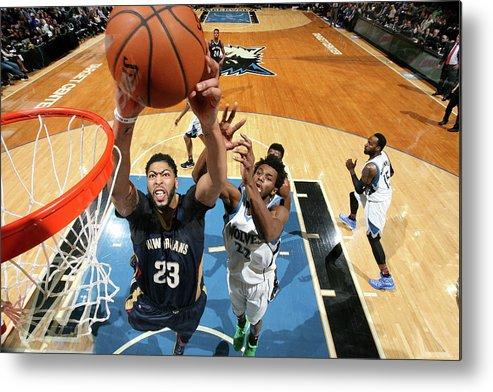 Nba Pro Basketball Metal Print featuring the photograph Anthony Davis by David Sherman