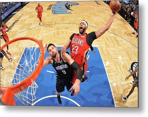 Nba Pro Basketball Metal Print featuring the photograph Anthony Davis by Fernando Medina