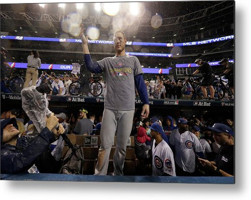 People Metal Print featuring the photograph Anthony Rizzo by Jamie Squire