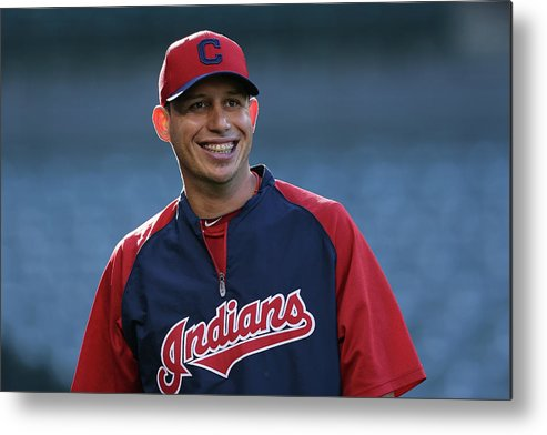 American League Baseball Metal Print featuring the photograph Asdrubal Cabrera by Jeff Gross
