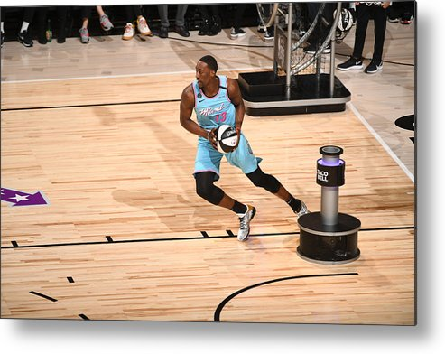 Nba Pro Basketball Metal Print featuring the photograph Bam Adebayo by Garrett Ellwood