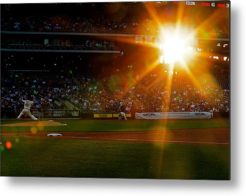 American League Baseball Metal Print featuring the photograph Bartolo Colon by Mike Stobe