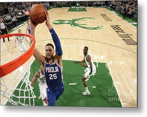 Nba Pro Basketball Metal Print featuring the photograph Ben Simmons by Gary Dineen