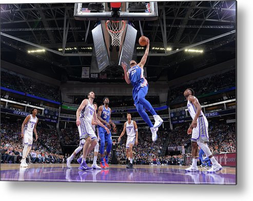 Nba Pro Basketball Metal Print featuring the photograph Ben Simmons by Rocky Widner