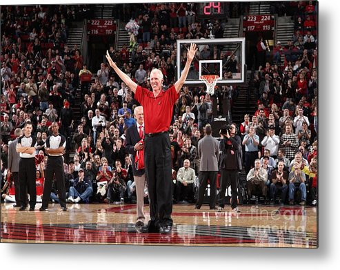 Nba Pro Basketball Metal Print featuring the photograph Bill Walton by Sam Forencich