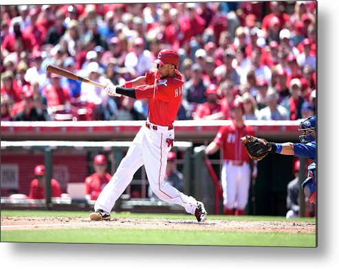 Great American Ball Park Metal Print featuring the photograph Billy Hamilton by Taylor Baucom