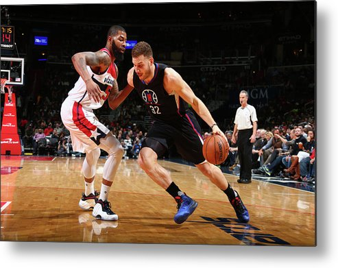 Nba Pro Basketball Metal Print featuring the photograph Blake Griffin by Ned Dishman